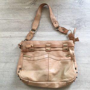 Anthropologie Cut n' Paste large leather bag
